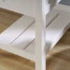 Shaker Style Desk Soft White Shelf