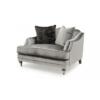 Belvedere Grey Velvet Snuggle Sofa