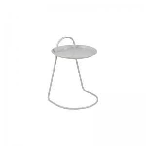 Matlock Grey Metal Lamp Table