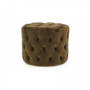 Perkins Brown Velvet Footstool