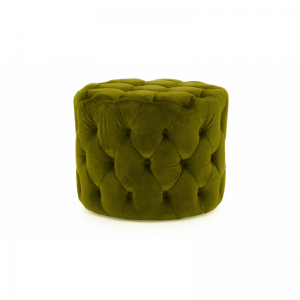 Perkins Green Velvet Footstool