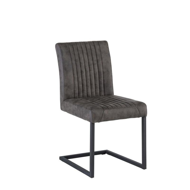 Raffles Fabric Dining Chair (Chair Colour: Brown)