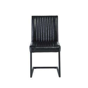 Raffles Black Faux Leather Dining Chair