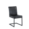 Raffle Leather Black Dining Chair 2