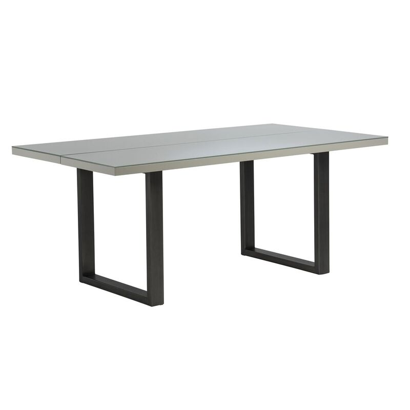 Rialto Gloss 6 Seater Dining Table (Colour: Grey)