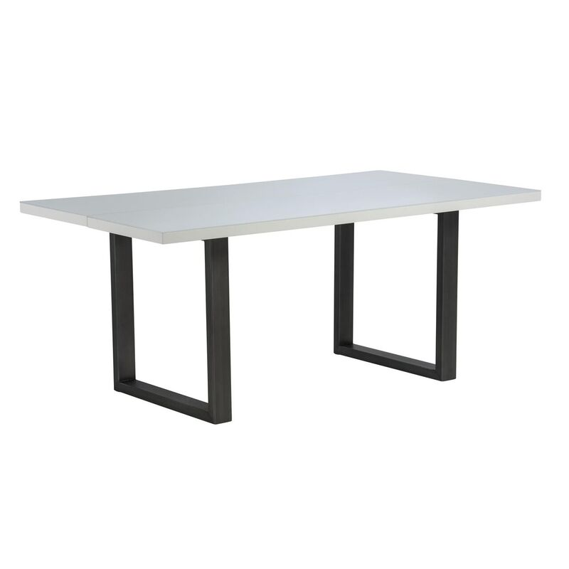 Rialto Gloss 6 Seater Dining Table (Colour: White)