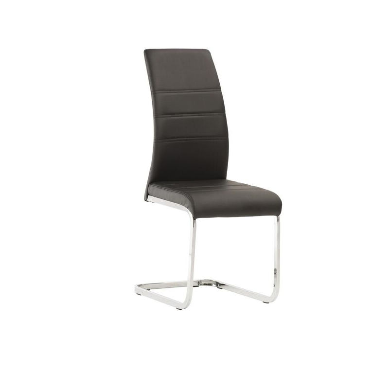 Soho Black Leather Dining Chair