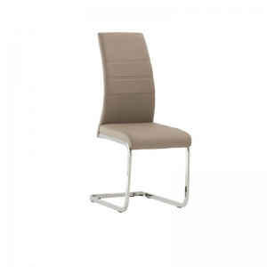 Soho Cappuccino Leather Dining Chair