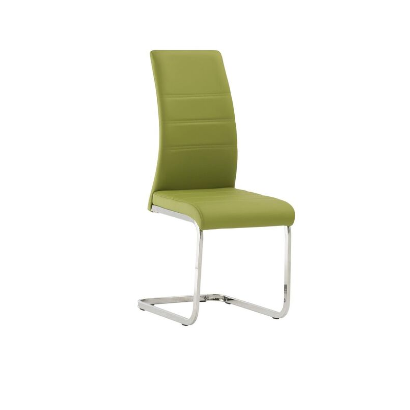 Soho Green Leather Dining Chair