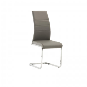 Soho Grey Leather Dining Chair