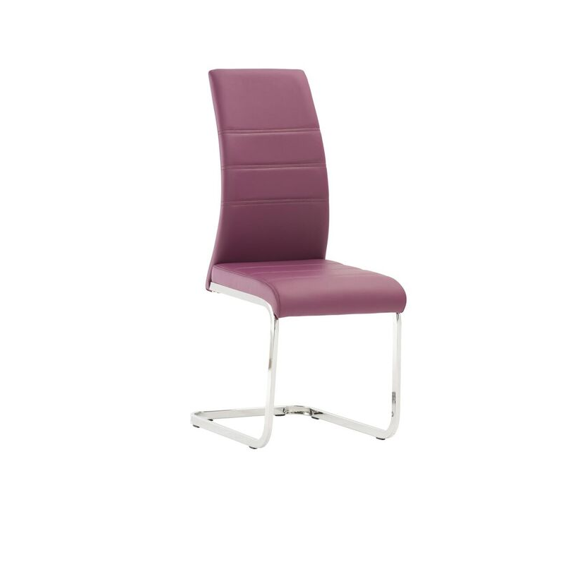 Soho Purple Leather Dining Chair
