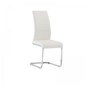 Soho White Leather Dining Chair