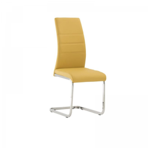 Soho Yellow Leather Dining Chair