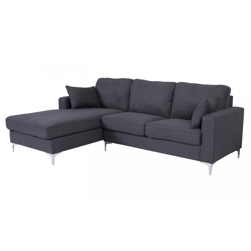 Tora Charcoal Corner Sofa (Sofa Options: Left Hand Facing)