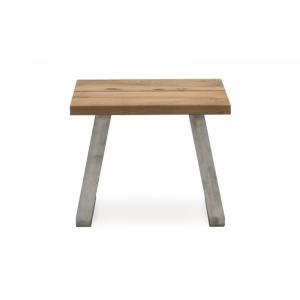 Trier Oak Industrial Style Lamp Table