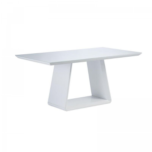 Lucca White Gloss 6 Seater Dining Table