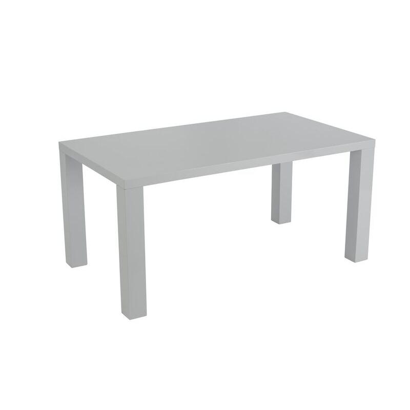 Monaco Grey Gloss 160cm Dining Table