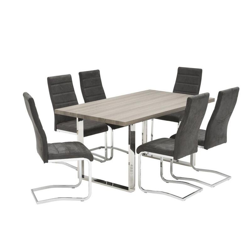 Naples Grey Oak Dining Table (Dimensions: 1.6m: W 160 cm x D 90 cm x H 75 cm)
