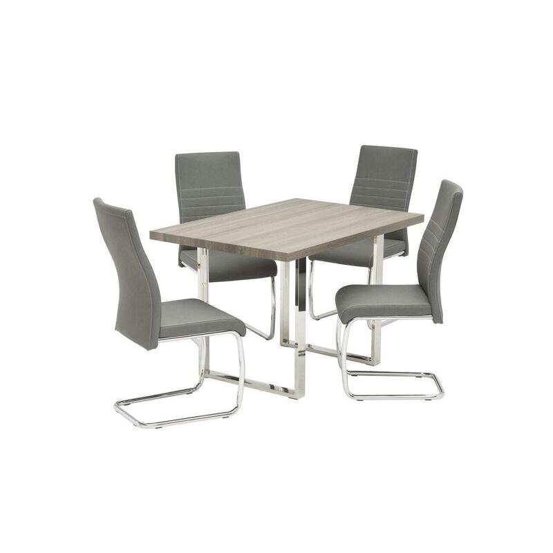 Naples Grey Oak Dining Table (Dimensions: 1.2m: W 120 cm x D 80 cm x H 75 cm)