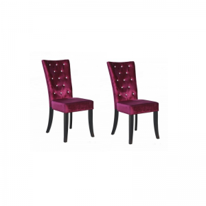 radience purple velvet dining chairs