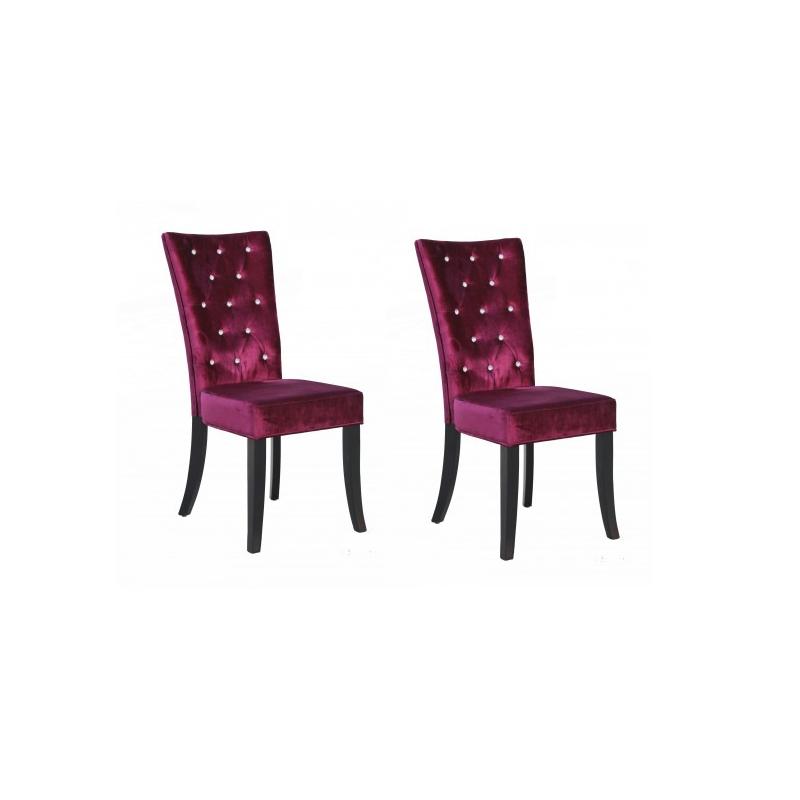 radience purple velvet dining chairs