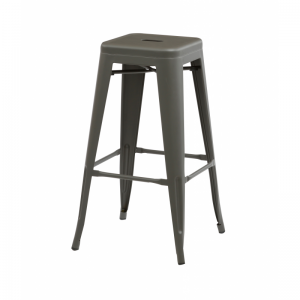 Bronx Grey Metal Bar Stools