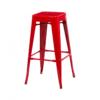 Bronx Red Metal Bar Stools