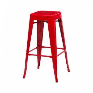 Bronx Red Metal Bar Stools