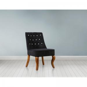 Darcey Black Crushed Velvet Chair