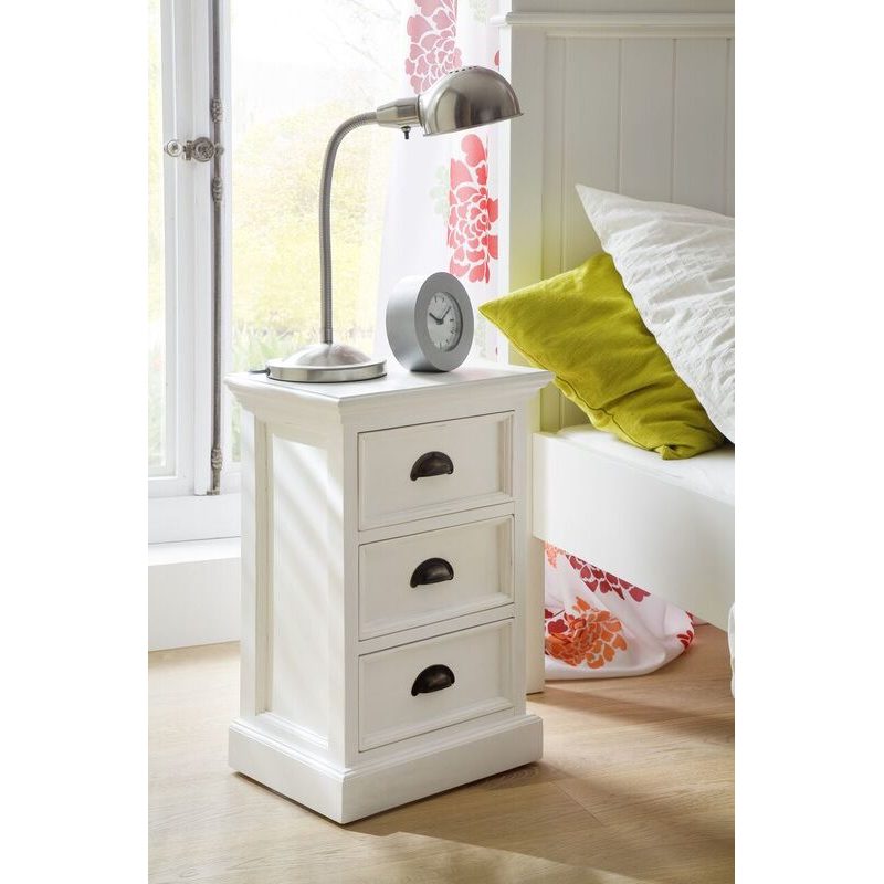 Halifax White Painted Bedside Drawer Unit 1