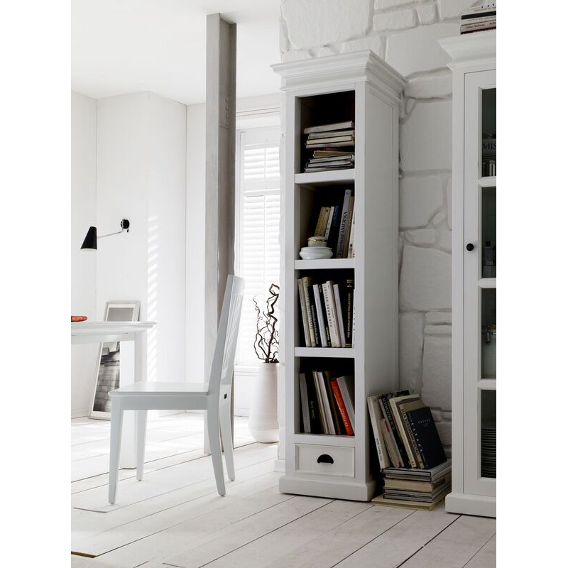 Halifax White Painted Bookcase With Drawer 1
