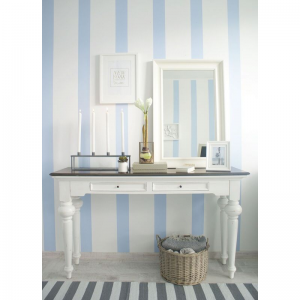 Provence Accent White Distressed Finish Console Table 5