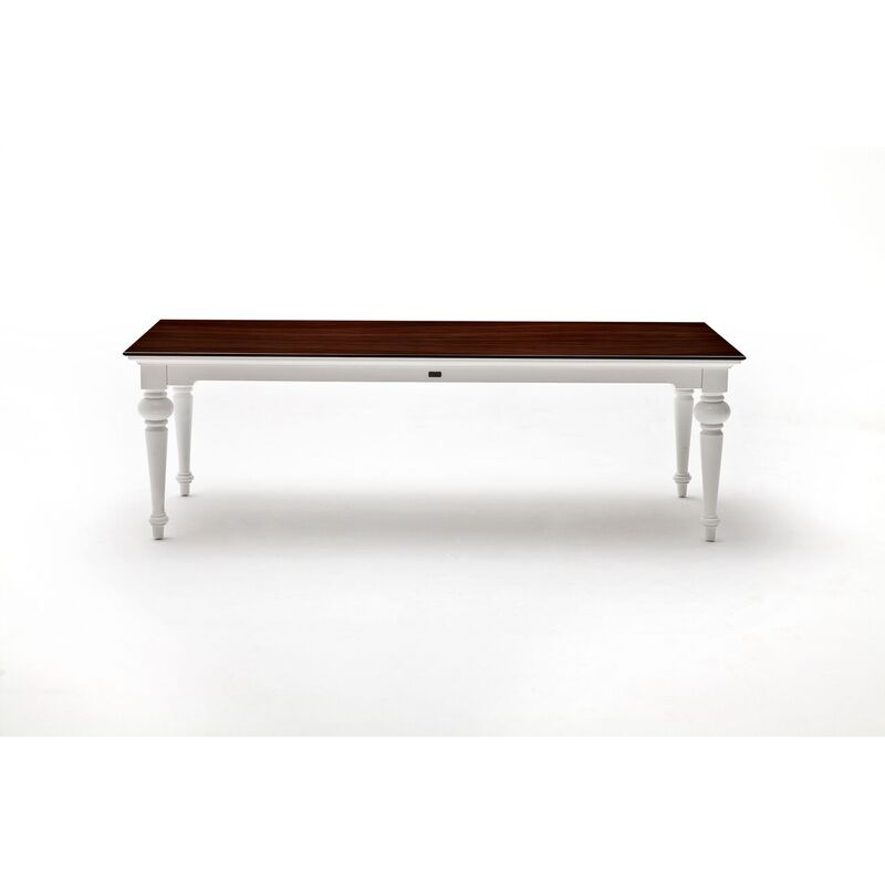 Provence Accent White Distressed Finish Dining Table