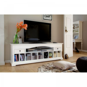 Provence White Painted Media Console Table