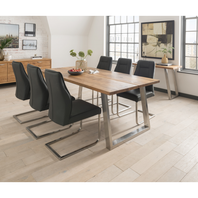 Trier Industrial Style Dining Table With Chairs