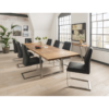 Trier 2100 Dining Table with Extension Leaf & 8 Luciana Chairs Charcoal