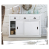 Hallifax White Painted Sliding Door Sideboard