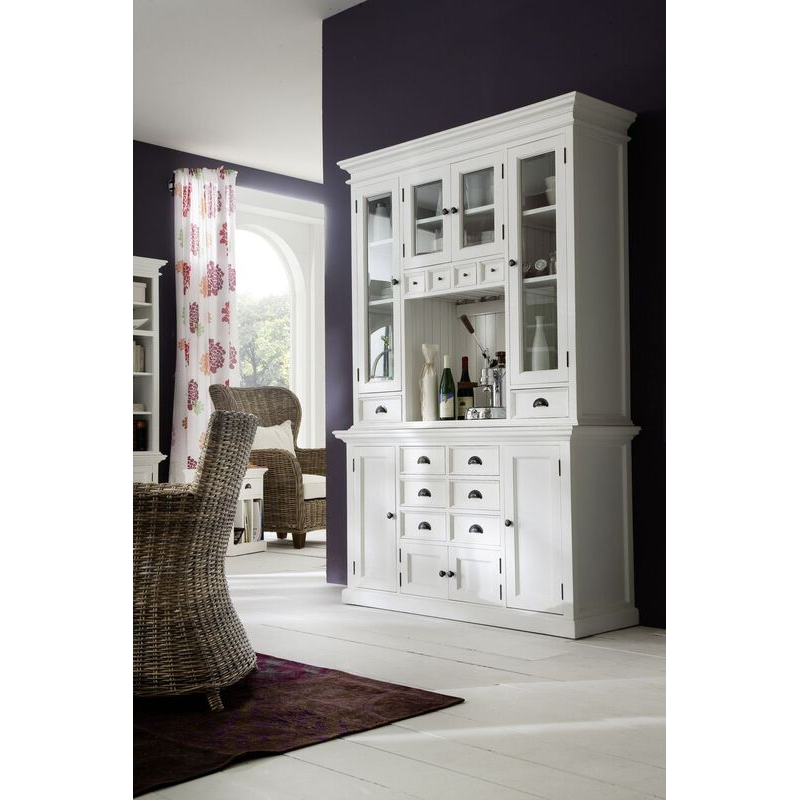Halifax White Painted Kitchen Hutch Unit
