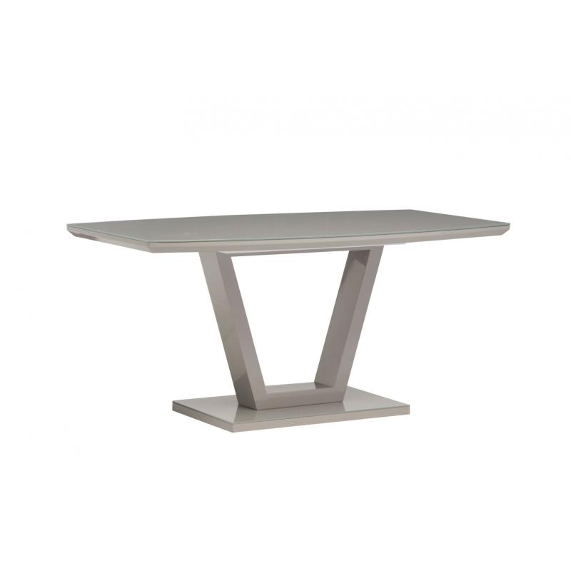 Venice Grey Gloss Dining Table (Table Colour: Grey)