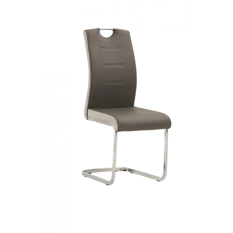 Venice Grey Leather Cantilever Chair