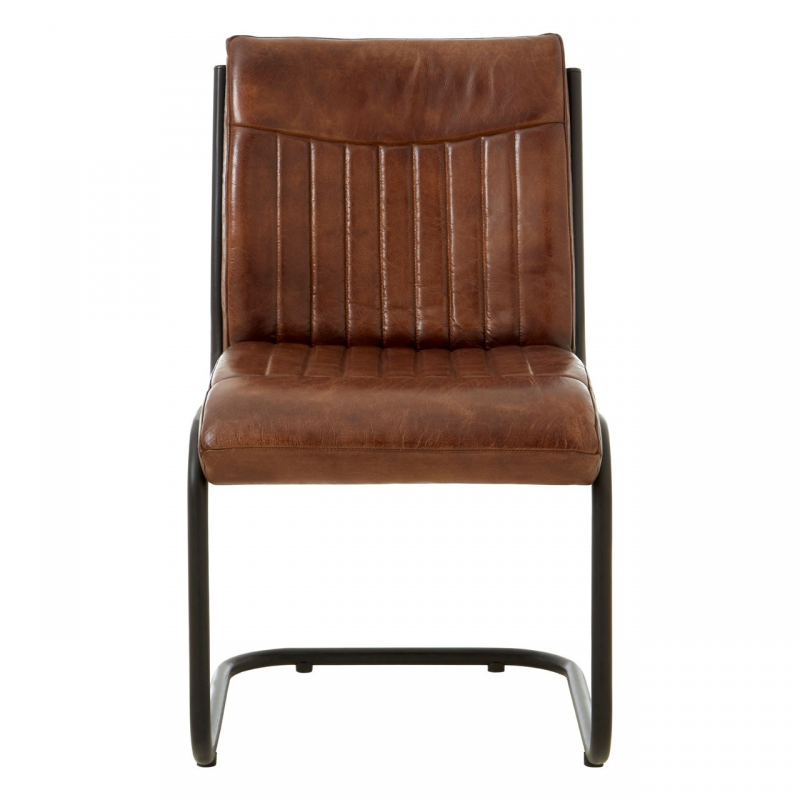 Buffalo Brown Leather Dining Chair