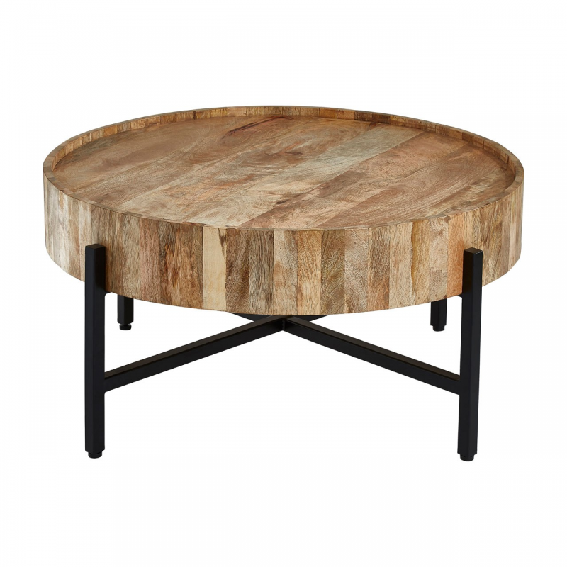 Crest Wooden Round Coffee Table