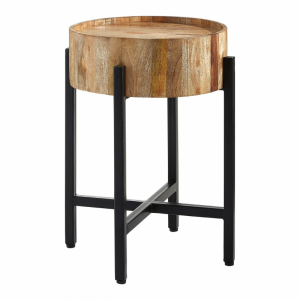 Crest Wooden Side Table