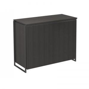 Federico Black Stained Oak 2 Door Sideboard 2