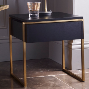 Federico Black Stained Oak Side Table 4