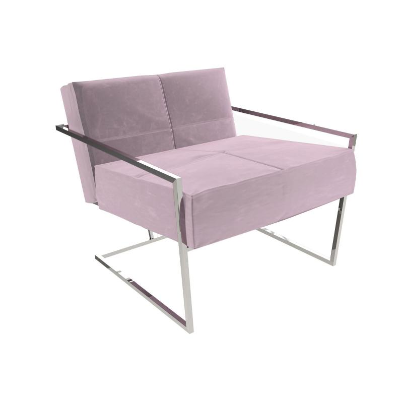 Federico Blush Velvet Armchair
