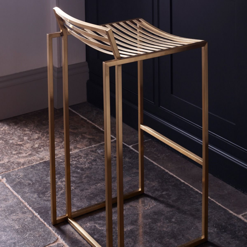 Federico Brushed Brass Bar Stool