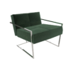 Federico Deep Green Velvet Armchair 2