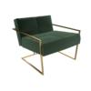 Federico Deep Green Velvet Armchair