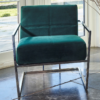 Federico Deep Green Velvet Armchair room set 1